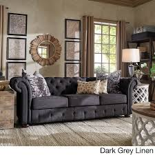 Chesterfield Sofa Bed Knightsbridge Tufted Scroll Arm Chesterfield Sofa By Inspire Q