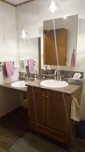 a handicap bathroom remodel old country love two sinks are perfect for a handicap bathroom remodel