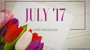 Sympathy Flowers Message - july u002717 card messages