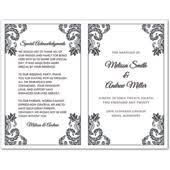 bi fold wedding program template wedding program templates do it yourself and template
