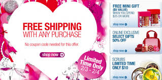 the shop free shipping no minimum gift with purchase