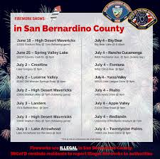 Firework Safety Information By San Bernardino County Fire Victor
