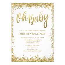 white and gold baby shower cheap baby shower invitations announcements zazzle