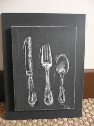couverts cuisine idées cadeaux des tableaux pour votre cuisine représentant des