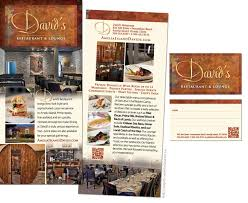 mini menus design for davids restaurant fernandina beach fl