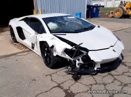salvage lamborghini aventador for sale lamborghini aventador spins out and hits front and rear