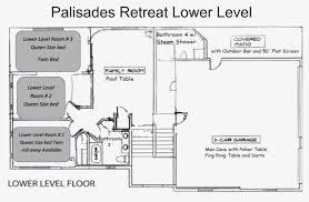 man cave floor plans palisades retreat vacation rental arizona incline properties