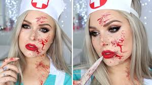 Bloody Nurse Halloween Costume Blood Splatter Tutorial Nurse Halloween Makeup Tutorial