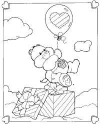 happy birthday bear coloring care bear birthday coloring