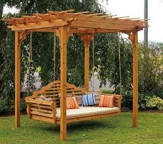 Swing Bench Plans Cedar Pergola Swing Bed Plans Pergola Swing Plans Images