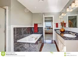 Modern Bathroom Ceiling Trim Modern Bathroom Interior In Master Bedroom Stock Photo Image Of