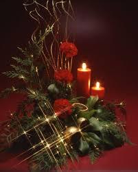 Christmas Flowers Christmas Floral Tree Lights