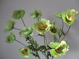 Artificial Flowers Home Decor by 3 Green Poppy Stems Diy Silk Flowers Home Decor 26