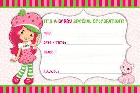 Free Printable Birthday Invitation Cards Templates Strawberry Shortcake Birthday Invitations U2013 Gangcraft Net