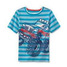 toughskins infant u0026 toddler boy u0027s graphic shirt monster truck