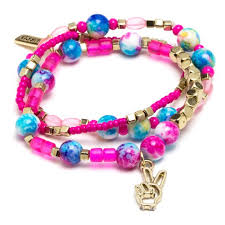 bead bracelet kit images Shop for the laurdiy peace mini bracelet kit pink blue at michaels jpg