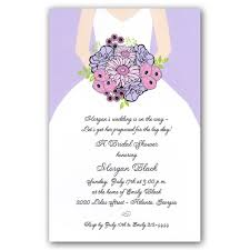 bridal shower invitations wording lilac bouquet bridal shower invitations paperstyle