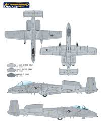 fairchild republic a 10a thunderbolt ii gray camouflage color