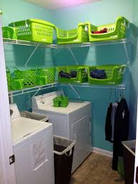 Diy Laundry Room Storage by Storage U0026 Organization Contemporary Blue Background Laundry Room