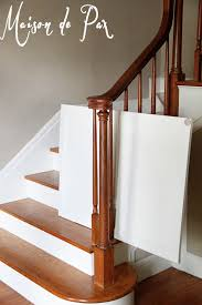 Baby Gate For Stairs With Banister Diy Classy Baby Gate Maison De Pax