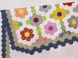 flower garden quilt pattern beadlust grandma u0027s flower garden 3 4 inch hexie quilt time study