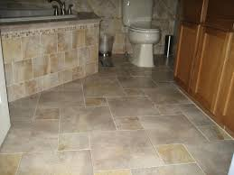 completed porcelain tile floor with a homecm pattern layout for