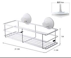 vacuum suction cup bathroom shelf soap dish shampoo cup paper