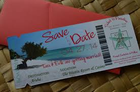 boarding pass save the date aruba magnet boarding pass save the date