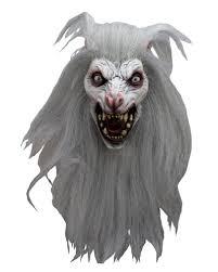 white halloween mask white moon werewolf mask halloween wolf mask horror shop com