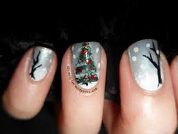 christmas tree nail art the adorned claw
