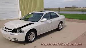 wrecked car 2004 lincoln ls 4dr repairable wrecked car autoplex inc