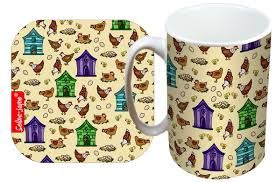 selina jayne hens limited edition designer mug and coaster gift set