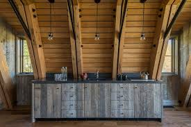 Reclaimed Wood Kitchen Cabinets Reclaimed Wood Cabinets Ideas Kitchen Farmhouse With Sloped