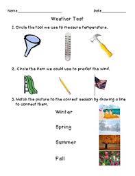 1st grade weather assessment by natalie lepp teachers pay teachers