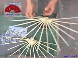 how to make a paper fan how to make a paper fan by hands tutorial wine bottle painting