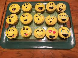 cheese emoji decorated emoji cupcakes fivethumbsup