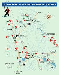 Platte River Map Colorado Fishing Reports South Platte Fishing Maps