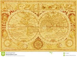 Antique World Map by Antique World Map Stock Image Image 10778851