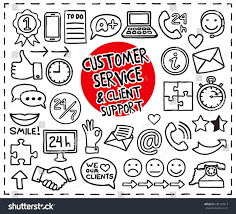 doodle sign up doodle customer service icons set stock vector 332197817