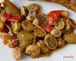 cuisiner des f钁es fraiches saumon aux fèves fraîches aux poivrons et aux citrons confits