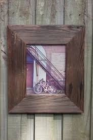 Picture Frames Made From Old Barn Wood 8x10 White Rustic Reclaimed Wood Picture Frame Made From An Old