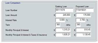 0539 filling in the va loan comparison screen