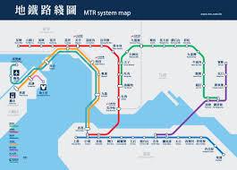 mtr map mtr system map of hongkong