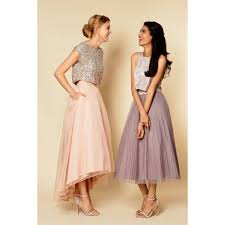 Barn Dresses Com Buy Two Piece Bridesmaid Dresses Cheap Silver Sequin And