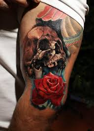 collection of 25 roses and skull tattoos