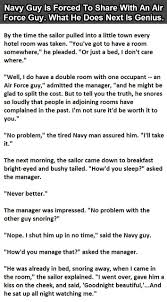 how to deal with a snoring air force guy this sailor is an evil