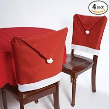 santa chair covers christmas house 20 santa hat chair covers set of 4