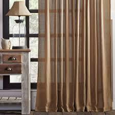 burlap natural panel curtains 84