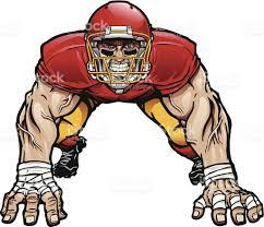 royalty free football lineman clip art vector images
