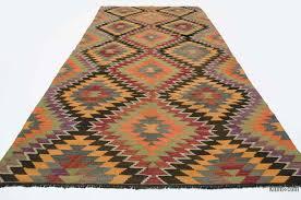 Tribal Persian Rugs by K0020018 Orange Vintage Mut Kilim Rug Kilim Rugs Overdyed
